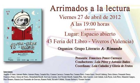 Invitación Evento A-rimando (43 Feria del Libro en Valencia)