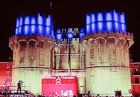 Las Torres de Serranos, iluminadas, Fallas 2010
