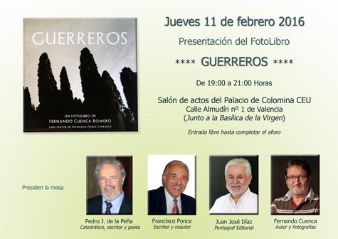 """Presentación del Foto-Libro """"GUERREROS"""""""
