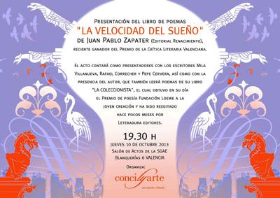 """""""La velocidad del sueño"""" de Juan Pablo Zapater"""