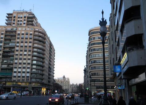 Calle de Jatíva en Valencia