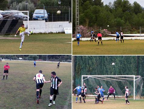 Momentos del partido de Fútbol