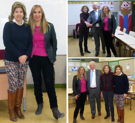 Autoridades Municipales y docentes de Godelleta (Valencia)