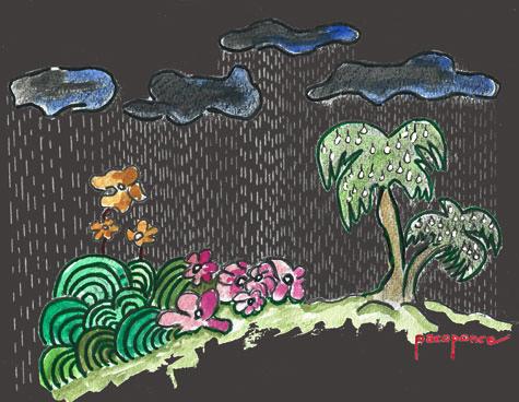 Tormenta en la selva