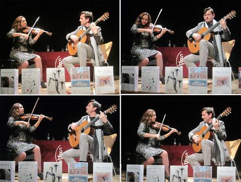 Magistral dúo (violín y guitarra) Anabel García del Castillo y José Mª Gallardo del Rey