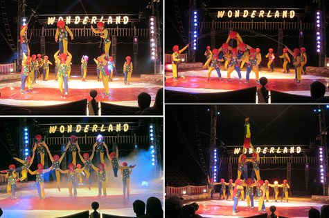 Alta coreografía y equilibrio