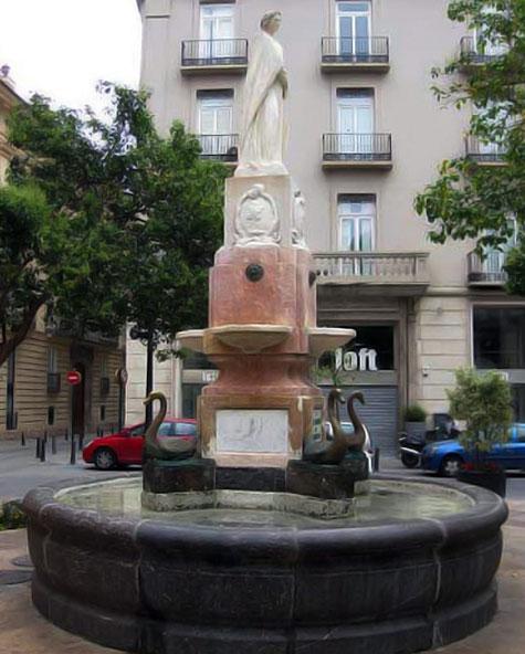 Fuente de los patos en Valencia