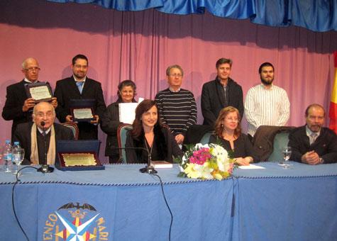 Autoridades, premiados y organizadores (Ateneo Blasco Ibáñez)