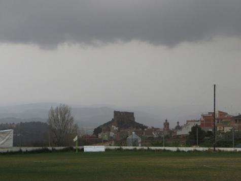 Vista de Castellnovo desde el Campo de Fútbol