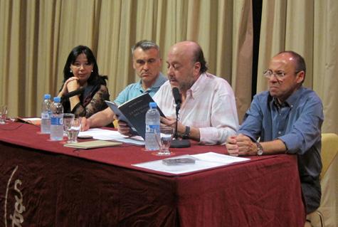Mesa del evento de J.P. Zapater
