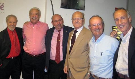 Pedro J. de la Peña con los amigos al finalizar.