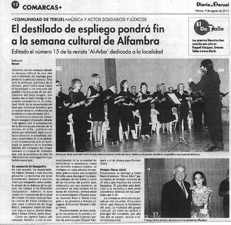 El Diario de Teruel con ALFAMBRA