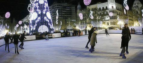 Pista patinaje de Valencia