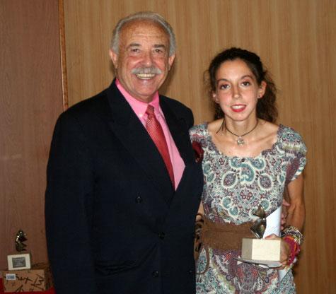Francisco Ponce (Escritor) y Raquel Vázquez Díaz (Poeta ganadora 1º Premio)