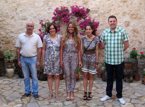 Los cinco premiados en el certamen ALFAMBRA 2013