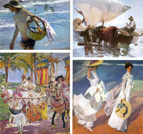 Joaquín Sorolla (Pintor Valenciano) parte de sus cuadros