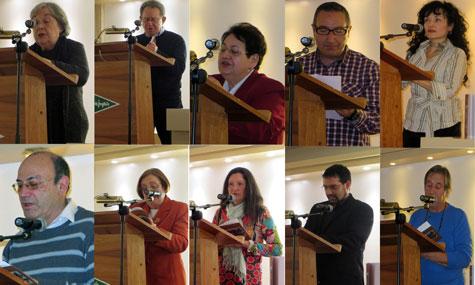 Algunos de los autores participantes en el libro compartido
