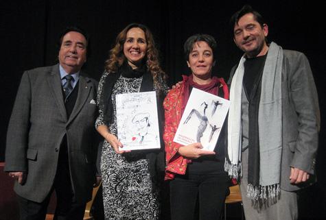Con la pintora María Aranguren
