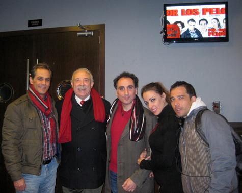 Francisco Ponce con parte de los actores