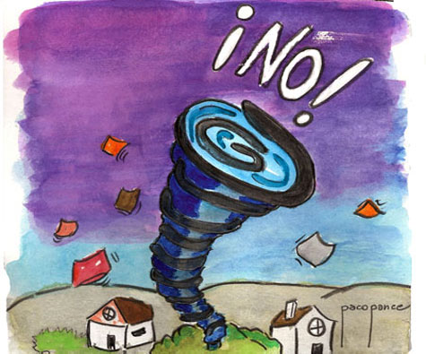Dibujo de un tornado
