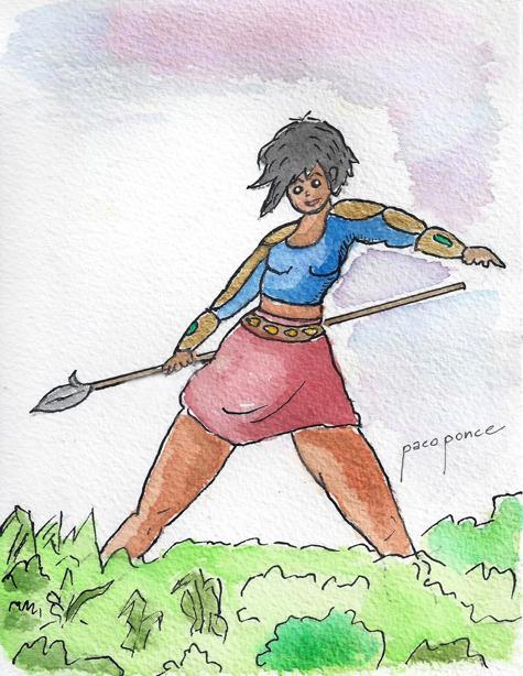 Amazona con lanza