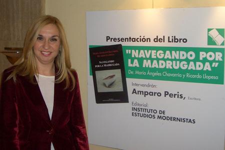 Presentadora Amparo Peris