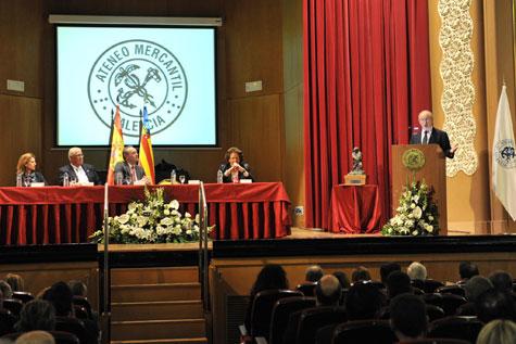 Salón de actos del Ateneo Mercantil de Valencia