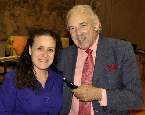 La directora Aticha Nodal y el escritor Francisco Ponce