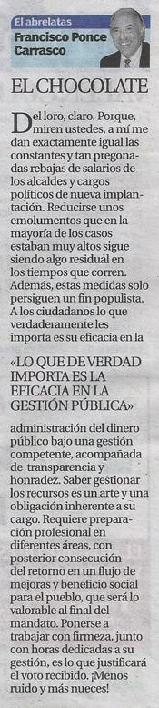 El Abrelatas (Columna periodística del escritor Francisco Ponce