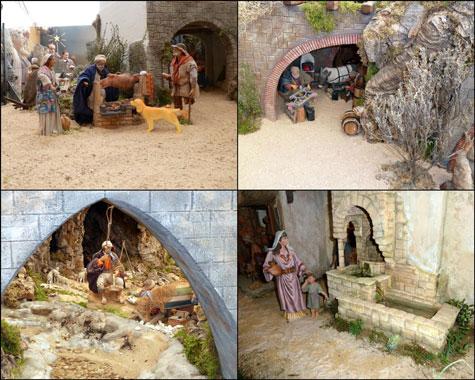 Varias escenas de un Belén