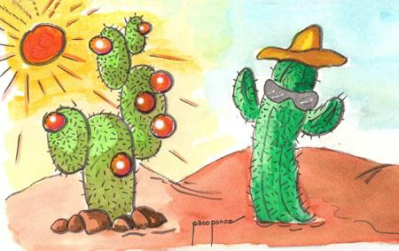 Cactus - Acuarela de Paco Ponce