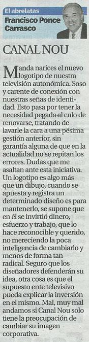"""""""El Ventanuco"""" con Canal Nou - Valencia-"""