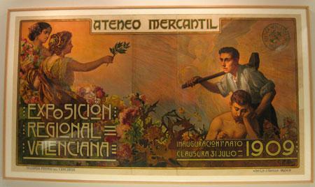 Cartel conmemorativo Exposición