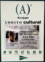 """""""De tu ventana a la mia"""" (cartel del Ámbito Cultural)"""