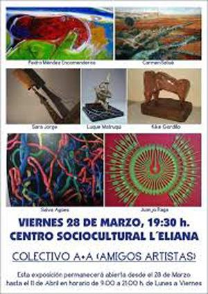 cartel pinturas y esculturas