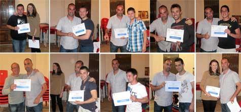 Diplomas a jugadores técnicos y 'la fisio'