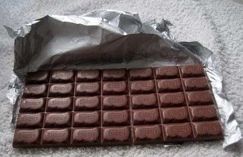 Porciones de Chocolate actuales
