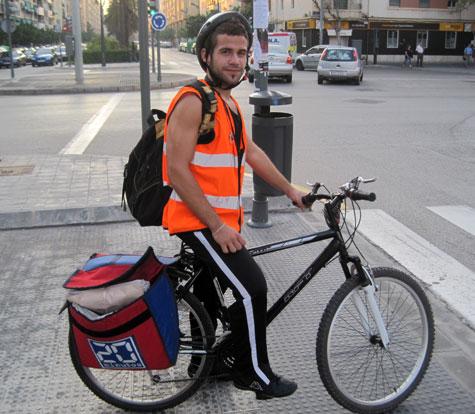 Ciclista de reparto