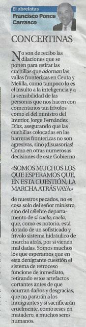"""Columna periodística """"El Abrecartas"""" del escritor Francisco Ponce"""
