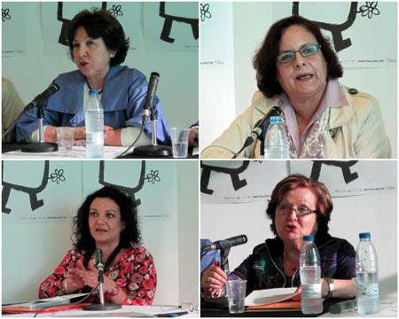 (Petra Mª Pérez - María Alcatud - Carmen Corona - Pascuala Morote)