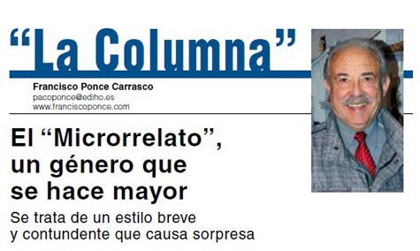 """La Columna"" del escritor Francisco Ponce"