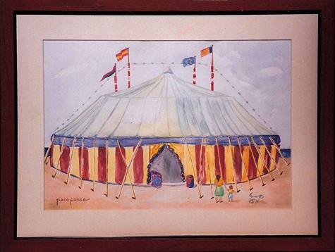 """""""Carpa de circo"""" - Acuarela"""