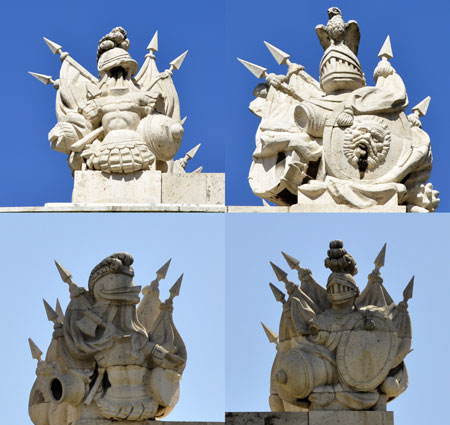 Cuatro relieves superiores