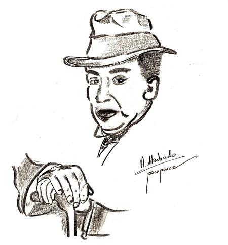 Dibujo de Antonio Machado