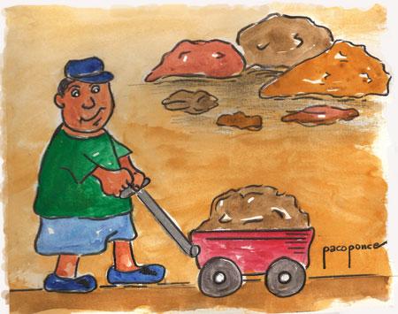 Existen diferentes tipos de tierra - Dibujo acuarela de Paco Ponce