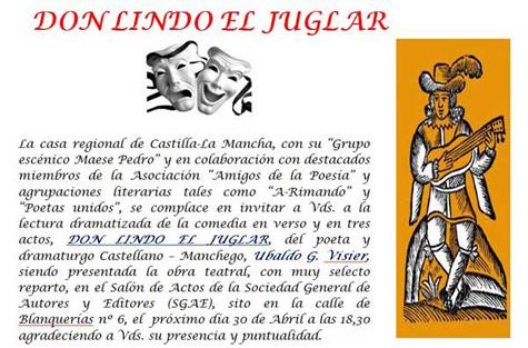 """""""Don Lindo el Juglar"""""""