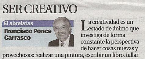 """""""El Abrelatas"""" Columna de Francisco Ponce (Escritor)"""