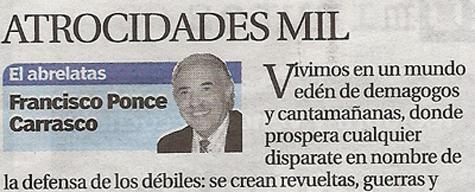 El Abrelatas - Columna de Francisco Ponce