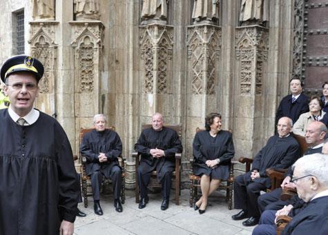 Pascual Sala con el Tribunal de las Aguas