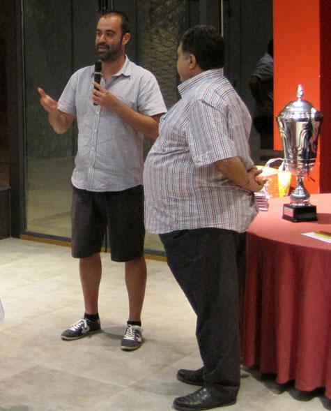 Ivan Soriano (Entrenador) y Ramón Ponce (Presidente)
